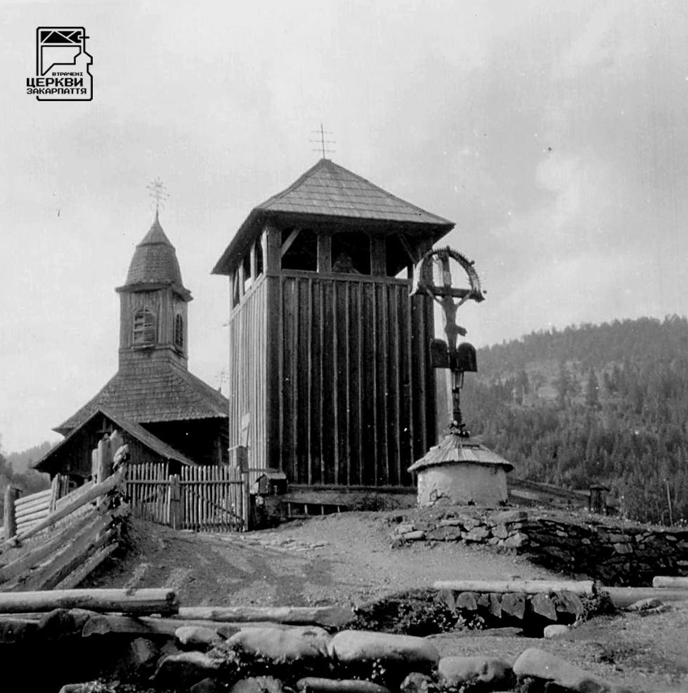 Греко-католицька церква св. арх. Михаїла і дзвіниця, ЛОПУХОВО (Брустури), село